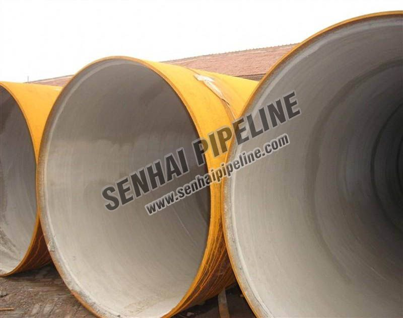 Cement lining pipes