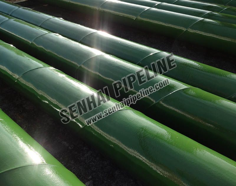 CHLORINATE RUBBER PAINTED PIPELINE