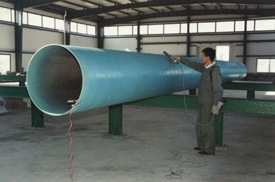 Green Chlorinated Rubber Paint Pipe